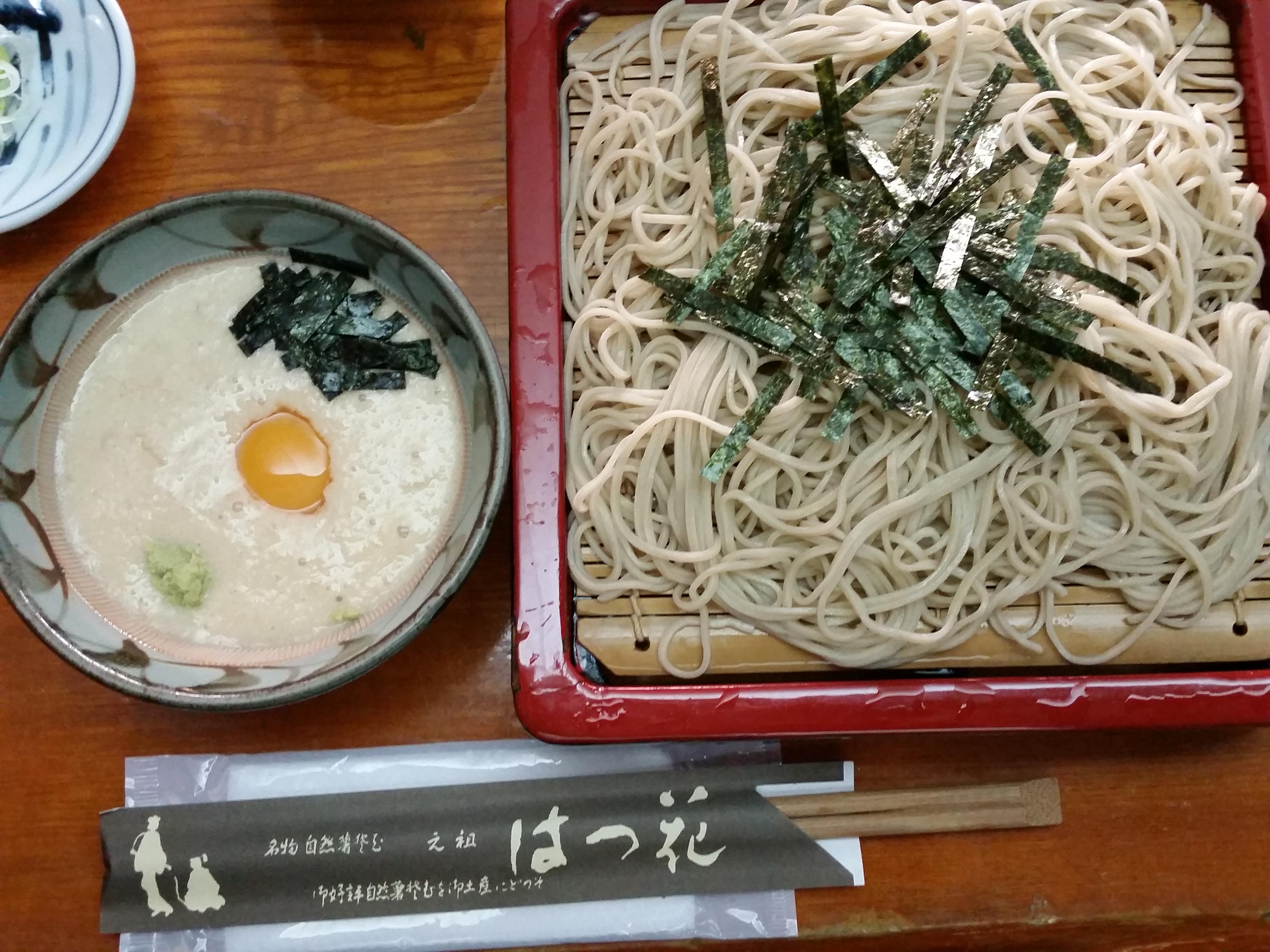 箱根の休日:老舗はつ花でせいろそばを食す
