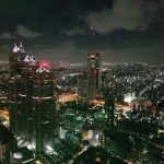 お盆の都内観光 無料で登れる東京都庁展望室で夜景を見る!