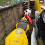 台風19号 記録的な大雨・暴風でのバイク駐輪 転倒対策を考えた!