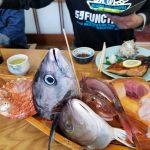真鶴 磯料理まるいりにて豪快に相模湾の恵みをくらう!丸入水産港に船盛刺身4艘入港しました!