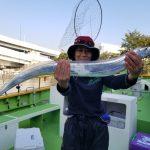 I'm back!1ヶ月ぶり東京湾タチウオジギングは横浜新山下渡辺釣船店から!